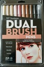 TOMBOW Dual Brush Pen Portrait Palette Set Art Water Based Markers  NEW