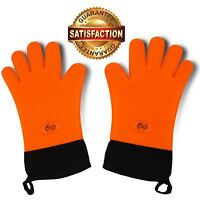 ValdoHome NEW BBQ Grilling Gloves, Heat Resistant Kitchen Silicone Oven Mitts