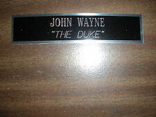 JOHN WAYNE (THE DUKE) NAMEPLATE FOR SIGNED PHOTO/MEMORABILIA DISPLAY