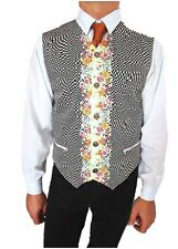fc3bf1dc4d8f46 Versace New Men Vintage Rare de Collection en Coton Imprimé Floral Vest  Gilet Sz 52 XL