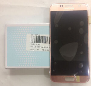 Genuine Samsung S7 (G930F) LCD Assembly New Pink Gold GH97-18523E, GH97-18761E