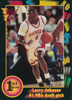 Larry Johnson 1992 Wild Card Collegiate #1 Charlotte Hornets basketball card