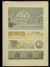 PAYSAGES ART NOUVEAU -1904- LITHOGRAPHIE, MAURICE DUFRENE