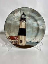 "Vintage David Carter Brown By The Sea Lighthouse Drcorative 8"" Plate Sakura #1"