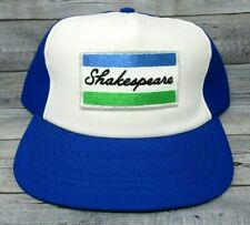 Shakespeare Trucker Hat Vintage Fishing Made in USA Blue and White