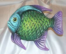 *1 CERAMIC 3D FISH WALL HANGING*8.5 INCH*BEACHY*TROPICAL*A*