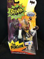"TRU Batman Classic TV Ser 1966 Burgess Meredith PENGUIN  6"" Action Figure Mattel"
