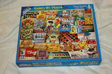 White Mountain GAMES WE PLAYED 1000 Piece Jigsaw Puzzle Complete