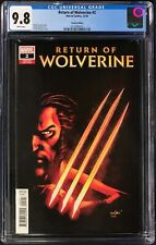 Return of Wolverine #2 CGC 9.8 David Marquez 1:25 Incentive Variant Cover!
