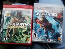 Uncharted 1 Greatest Hits and Uncharted 2  Sony PlayStation 3