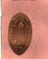 Fort  Isabel    Lighthouse Texas Elongated Penney