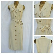 NEW MATALAN PAPAYA SHIRT DRESS MIDI UTILITY OATMEAL CREAM BEIGE SIZE 8 - 20