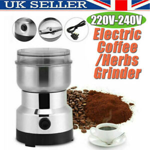 240V Electric Coffee Grinder Grinding Milling Bean Nut Spice Matte Blender Dry