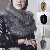 2017 Women Ladies Fashion Faux Fur Winter Collar Scarf Shawl Wrap Stole Scarfs