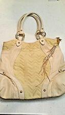Via Spiga Cream Off White L Quilted Gold Tone Hardware Shoulder Bag