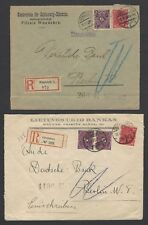 Germany Inflation 1917-23 registered covers (8)