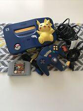 Pokémon Pikachu Nintendo N64 Console + Pokemon Stadium Game.