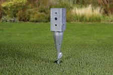 Soporte de estaca atornillable para postes cuadrados 9x9 para tierra galvanizado