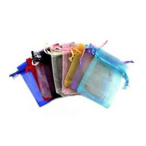 7x9cm 25pcs Multi-Color ORGANZA XMAS GIFT BAGS Wedding Candy Jewellery Pouches