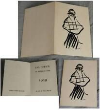 Graphique d'Albert Marquet-Les voeux TU Bateau-lovoir Paris 1959 monogrammiert/1
