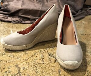 Merona Espadrille Wedges Beige / Taupe Size 9 Brand New No Box Buy Them Now!