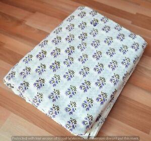 New Indian Handmade Floral Print Cotton Running Loose Dressmaking 3 Yard Fabric