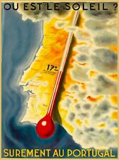 Surement au Portugal Vintage Travel Collectible Wall Decor Art Poster Print