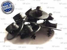 CAR MAT CARPET CLIPS FIXING GRIPS CLAMPS FLOOR HOLDERS SLEEVES PREMIUM BLACK X 8