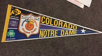 Vintage Felt Pennant Orange Bowl Colorado v. Notre Dame 1991 VG