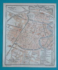 "1905 BAEDEKER MAP - HOLLAND Haarlem City Plan 5 x 6"" (13 x 15,5 cm)"