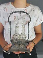 Ancien Huilier vinaigrier métal argenté style Louis XVI