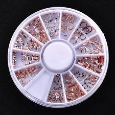 Design Nail Art Decoration Stickers Metallic Studs Wheel Nails Accessories DIY
