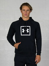 (tg. Xxl) Under Armour Rival Fleece Logo hoodie Felpa Uomo Nero (nero/bianco