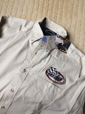 NWT BOMBARDIER SKI-DOO SNOWMOBILE RACING LONG SLEEVE SHIRT (S) COTTON KHAKI H-0