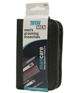 Trim Men's Travel Grooming Kit Zipper Pack 7 Piece Set For Nails Hair