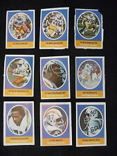1972 SUNOCO NFL SAN DIEGO CHARGERS STAMP LOT (13), DEACON JONES, JOHN HADL