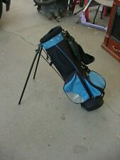 Excellent Aspire Youth Stand Golf Bag 4 Way Blue/Black 6X29 In lss 40