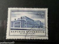 AUTRICHE 1955, timbre 854, RECONTRUCTION THEATRES, oblitéré, VF used stamp