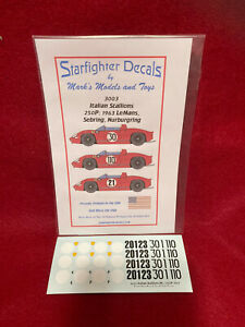 Starfighter Decals 1/32 Ferrari 250P Decals 3003