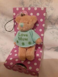 Love Mum mini Teddy Bear Phone Dangler Bag Charm