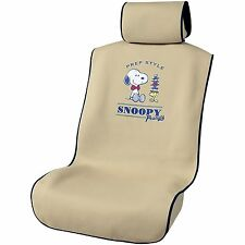 JDM Peanuts Snoopy car accessory seat cover mat beige Kawaii 4179-50BE