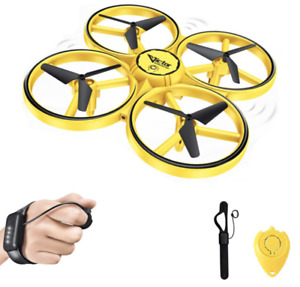 One-Hand Easy Fly Drone - Obstacle Avoidance, Motion Sensor - Cool LED Lights