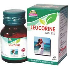 Homeopathic Wheezal Leucorine Tablets 25 gm Weakness Free Shipping
