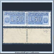 1953 Italia Repubblica Pacchi Concessione Ruota L. 50 azzurro n. 1 Nuovo **