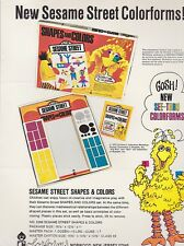 Vintage COLORFORMS Sesame Street - Big Bird -  ad sheet #0093
