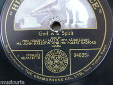 "78rpm 12"" GOD IS A SPIRIT percival allen lakin rebert radford HMV 04025 single s"