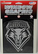 University of New Mexico Lobos Window Graphic - Silver Chrome Vinyl Decal 4x5