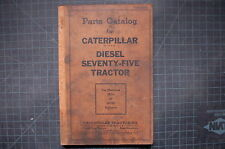 CAT Caterpillar 75 Seventy Five Dozer Parts Manual book