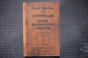 CAT Caterpillar 75 Seventy Five Dozer Parts Manual book