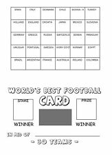 Quick - 25 World's Best Football Team Name Fundraising Card - 30 Spaces